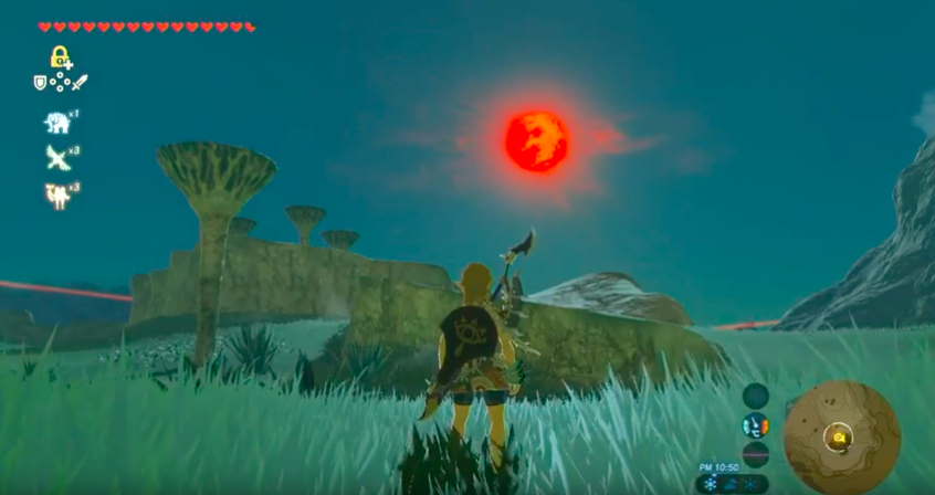 On the red moon night【Shrine Challenge 1|The Legend of Zelda Breath of the Wild】